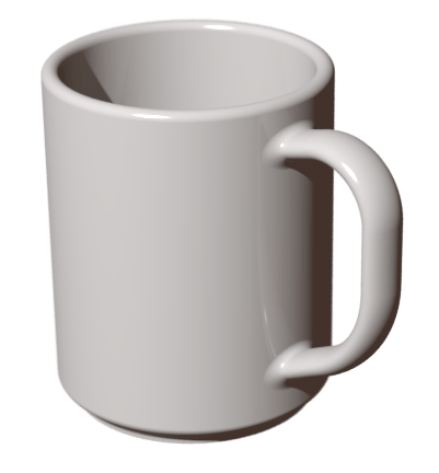 Shiny White Mug transparent PNG.