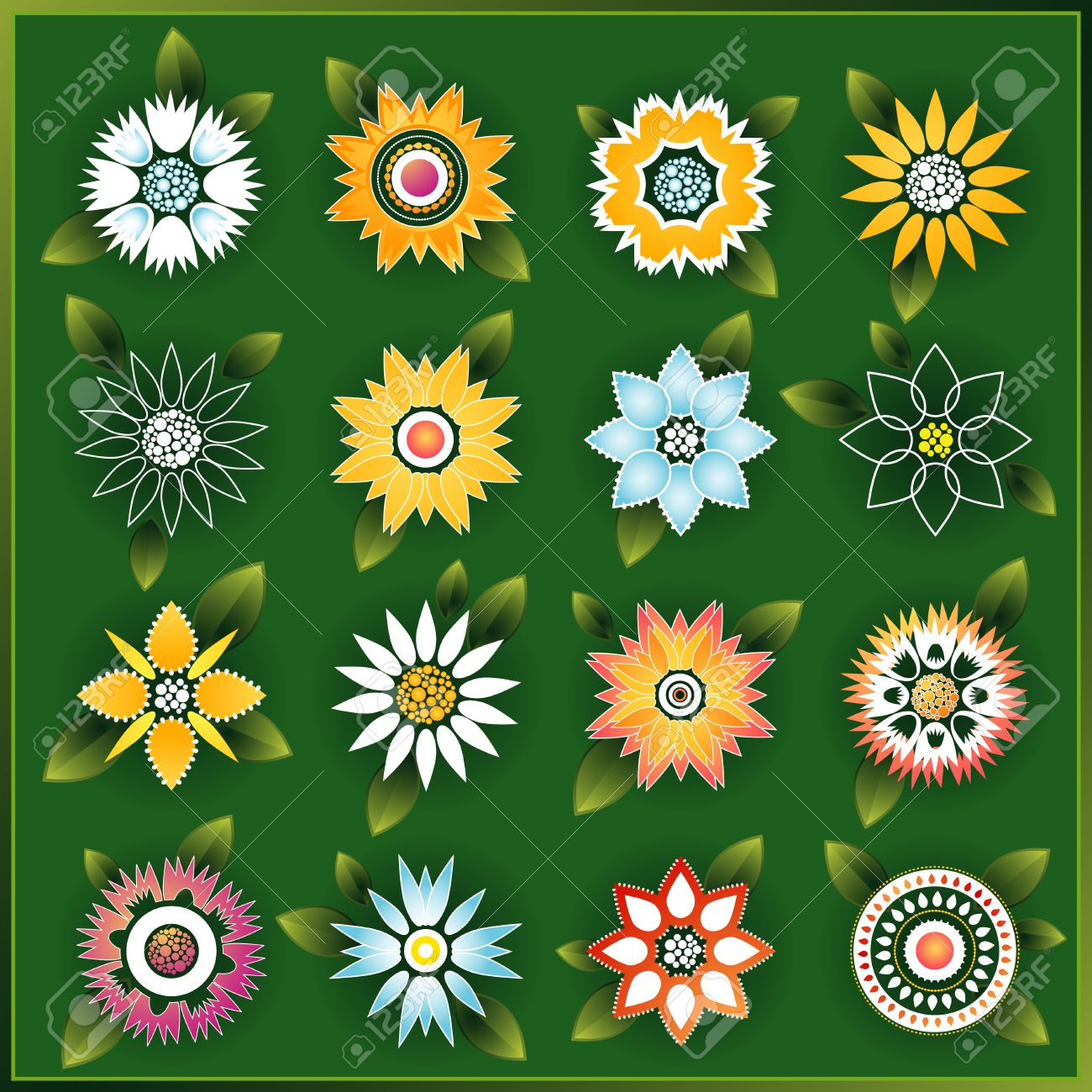 white color painted flower clipart - Clipground