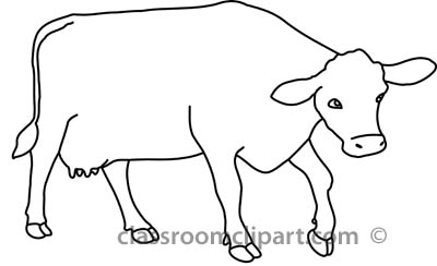 Black And White Cow Clipart.