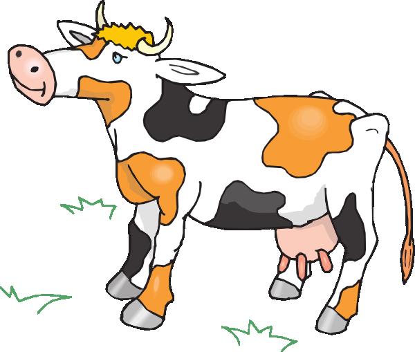 Black White And Orange Cow Clip Art at Clker.com.