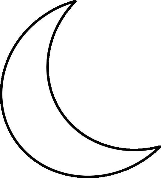 Moon Shape Clipart 24,26kb Download.
