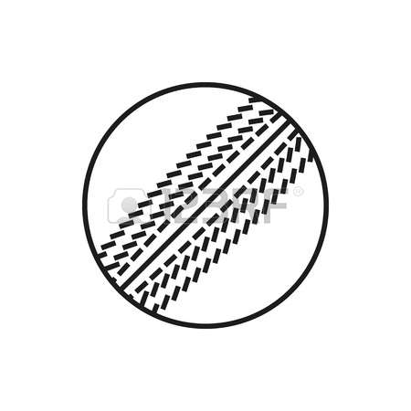 Cricket Ball Clipart Black And White.
