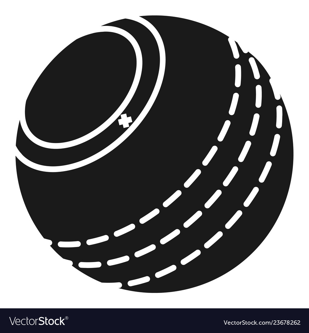 Cricket ball icon simple style.