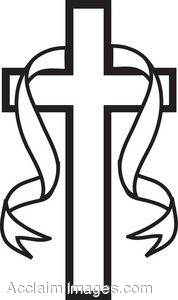 Black And White Cross Clipart.