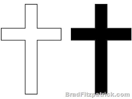 White Cross Clipart.