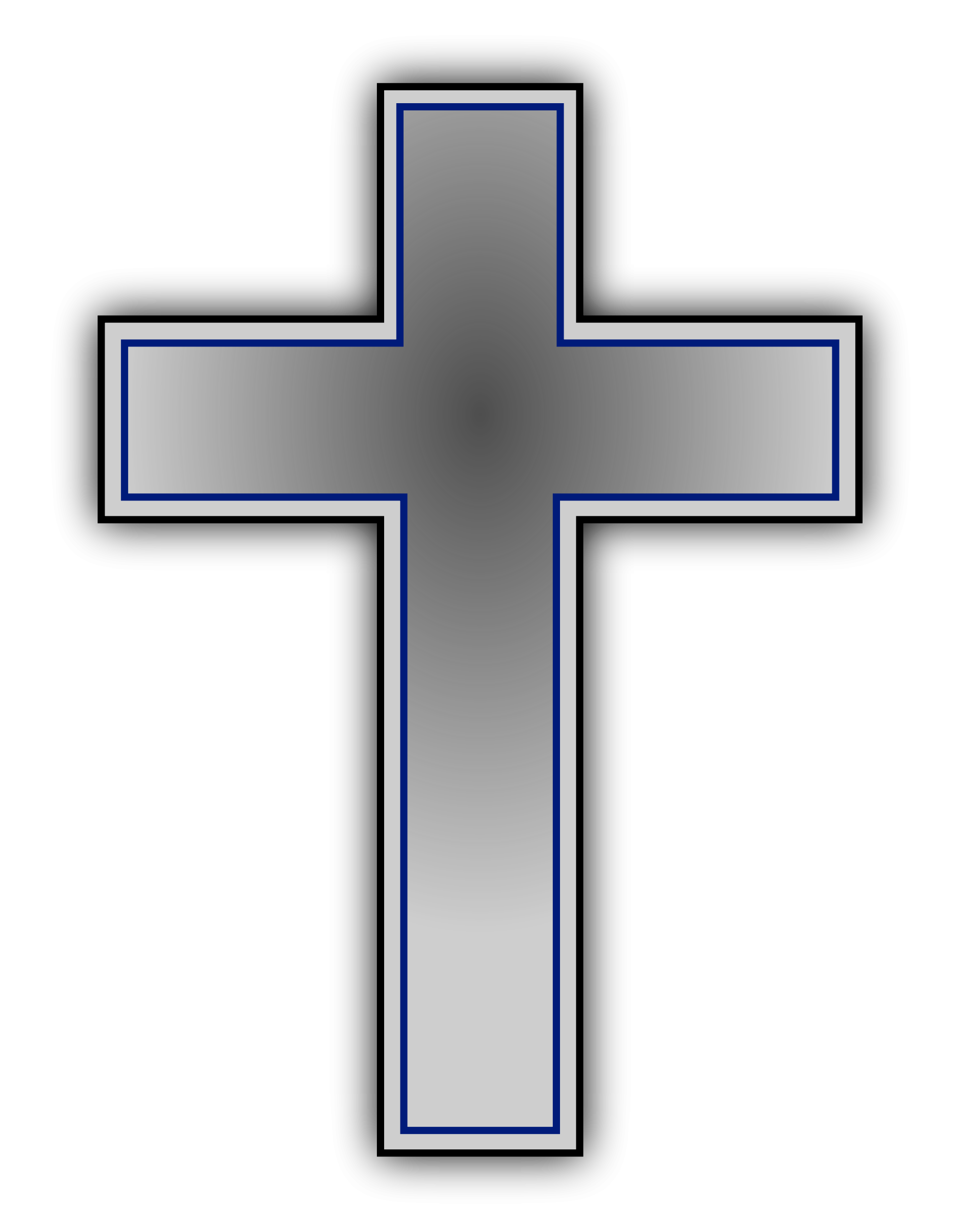 Free Cross Black And White Clipart.