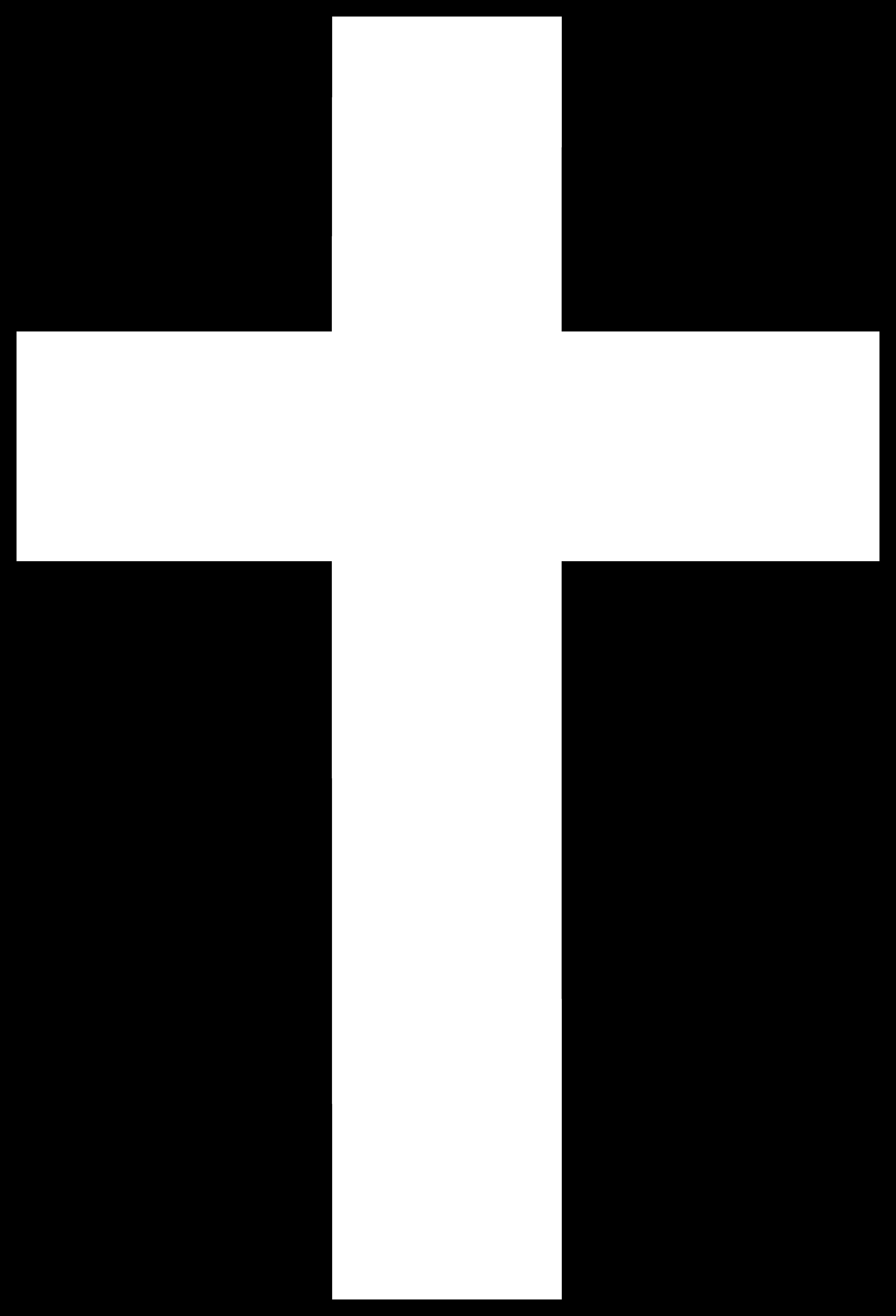 White cross clip art free.