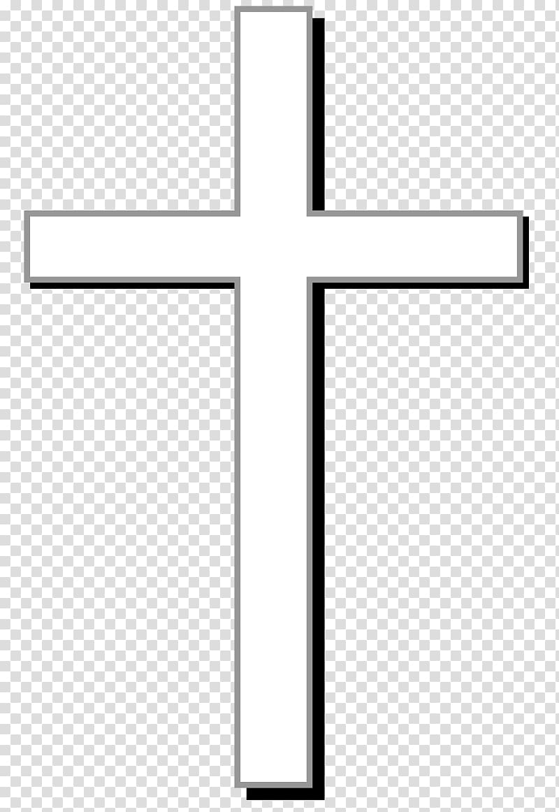 White cross illustration, Christian cross Christianity.