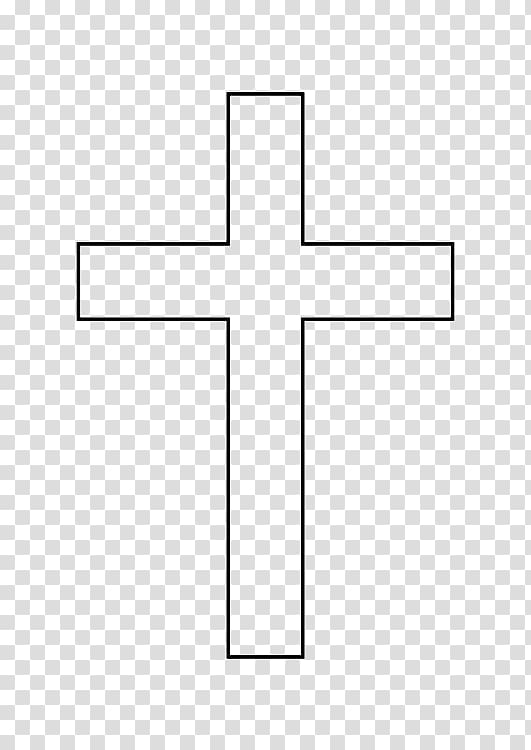 Christian cross Symbol Outline Drawing , christian cross.