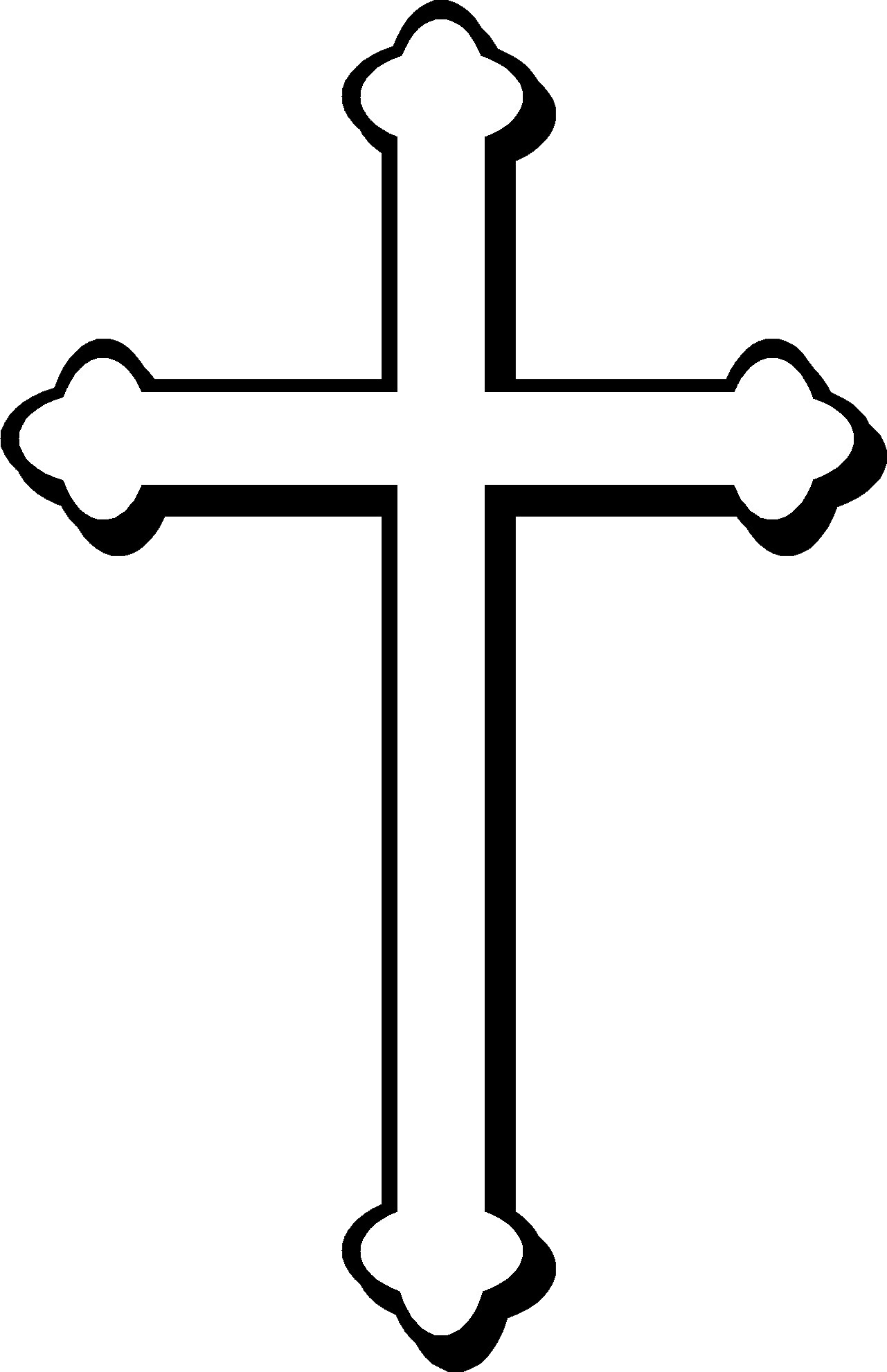 Cross Svg Free Download Black And White #162288.