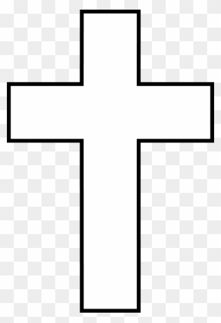 Free PNG Cross Black And White Clip Art Download.