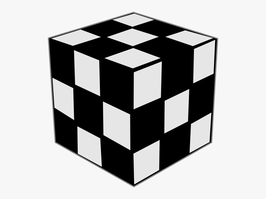 Black And White Cube , Free Transparent Clipart.