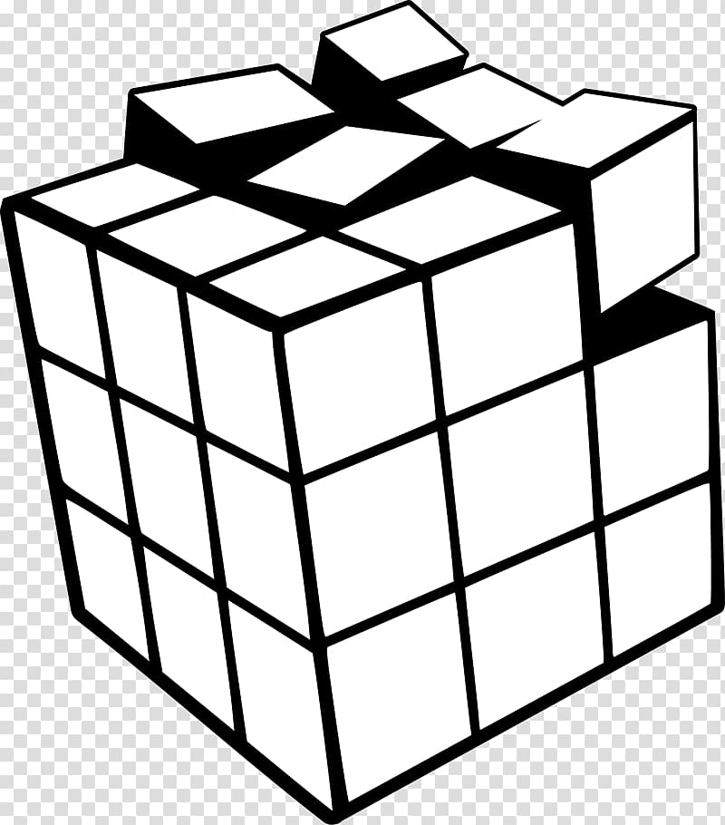 Rubiks Cube Scalable Graphics , White Cube transparent.