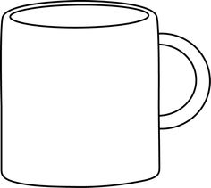 Clipart Cup Black And White.