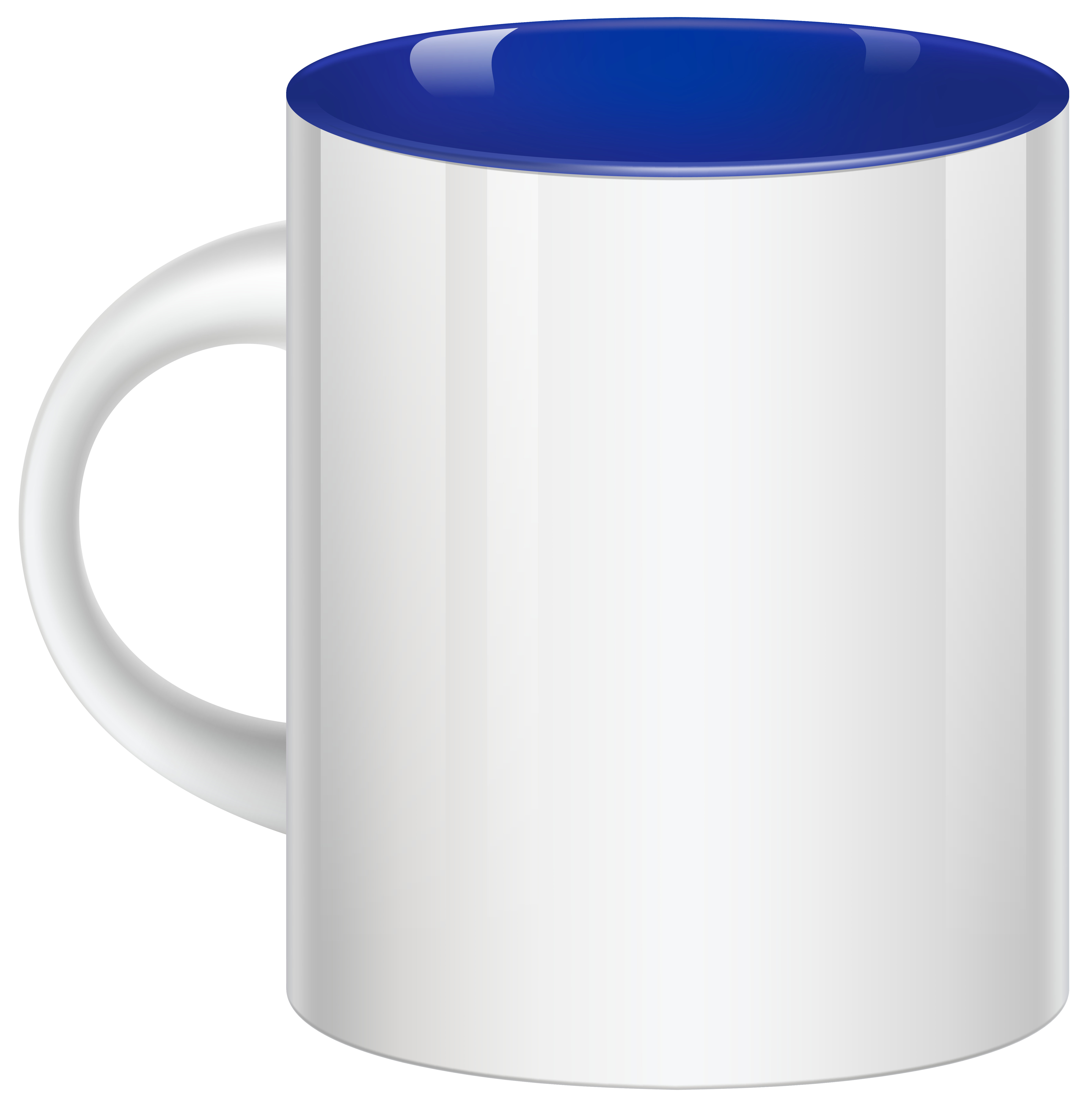 White Blue Cup PNG Clipart.