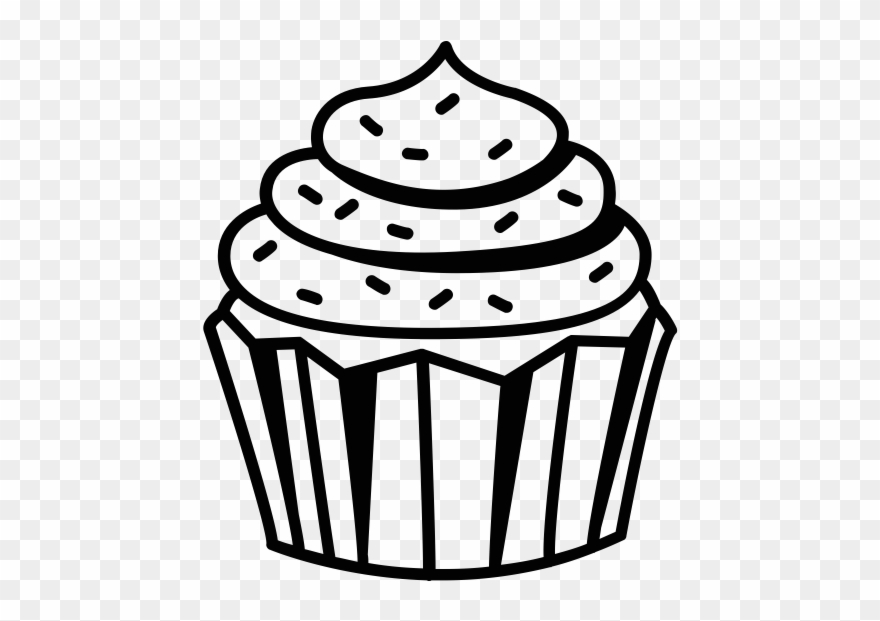 Cupcake Clipart Black And White Black And White Cupcake.