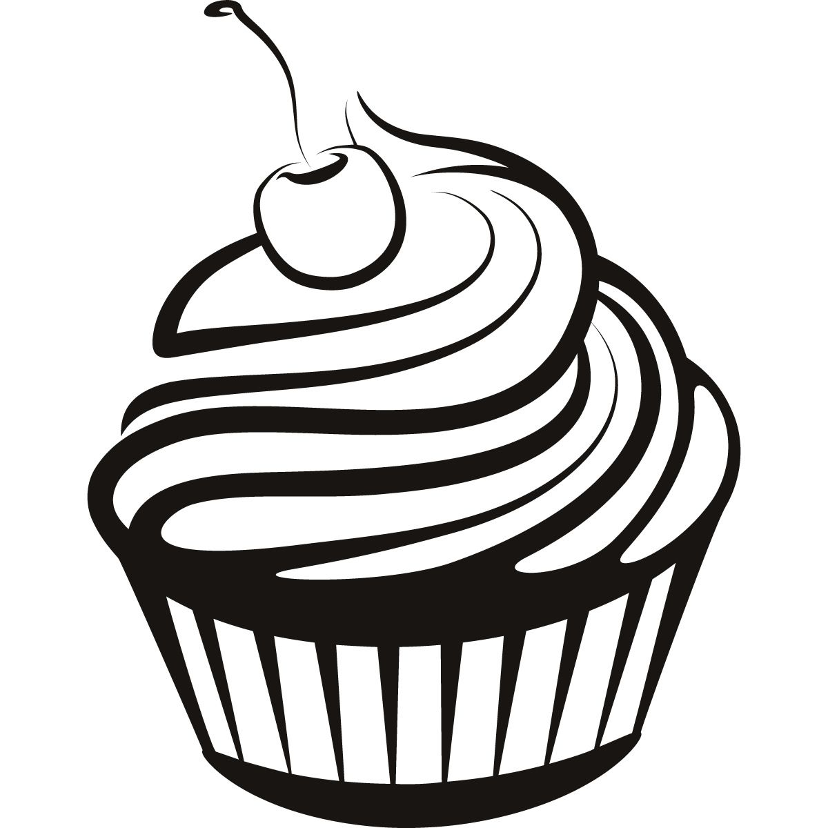 Cupcake black and white cupcake drawings and cupcakes clipart.