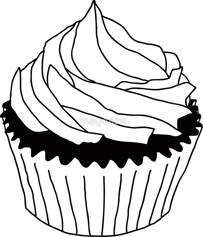 Free Cupcake Line Drawing, Download Free Clip Art, Free Clip Art on.