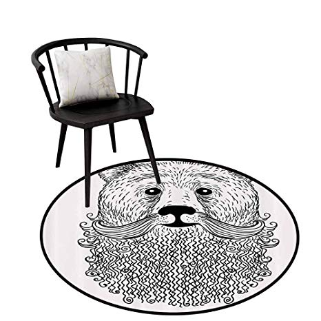 Amazon.com: Printed Round Rug Indie for Bathroom Doodle.