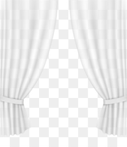 Black And White Curtain PNG.