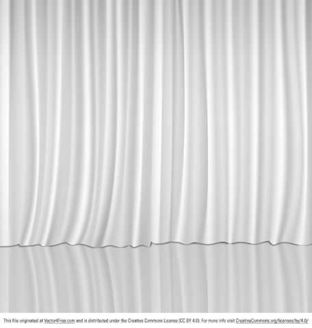Vector White Curtains Clipart Picture Free Download.