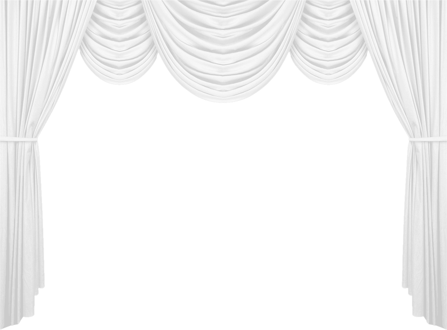White Curtain PNG Clipart Picture.