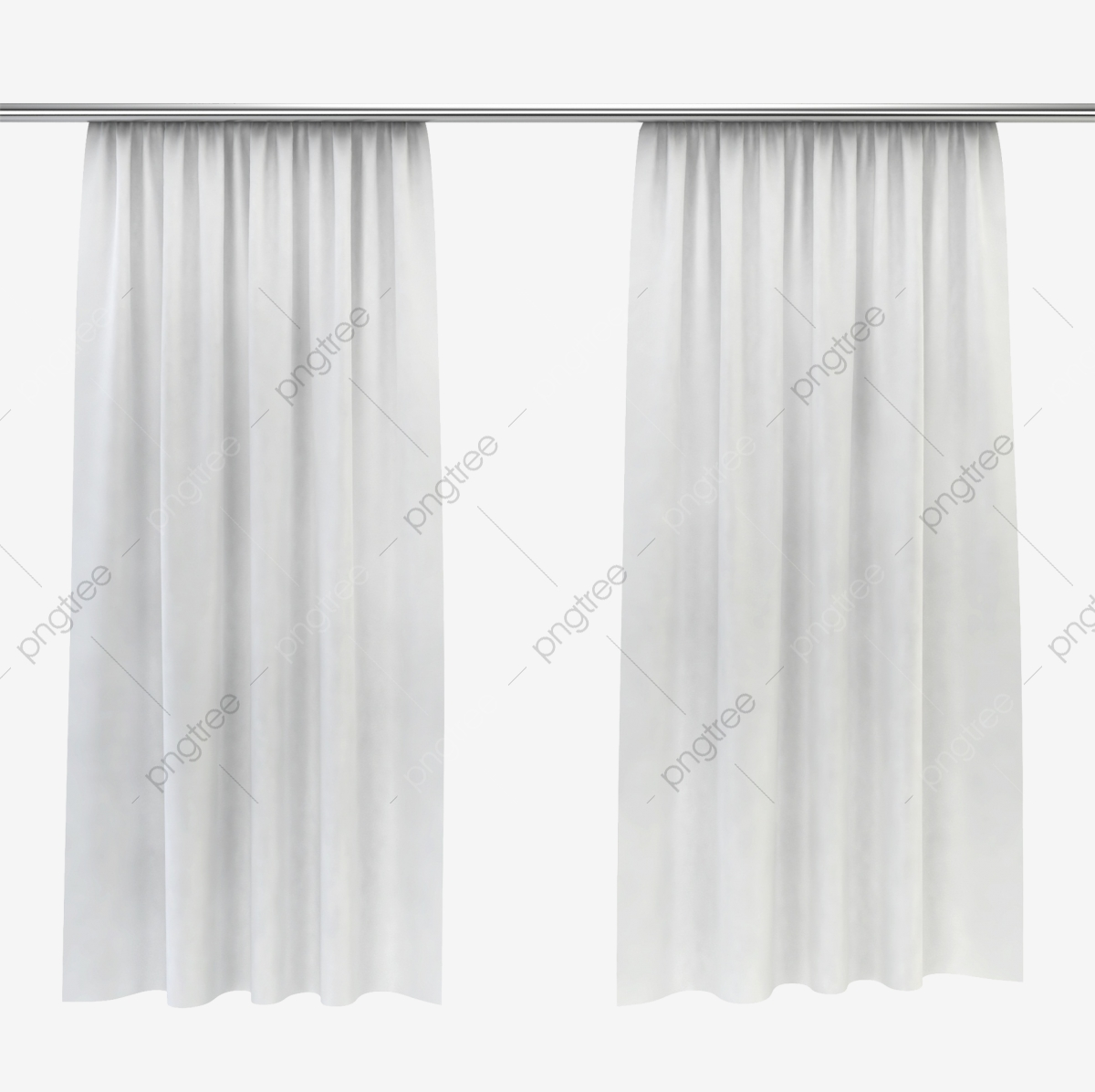 White Elegant Curtain, Material Object, Window Curtains, Silk.