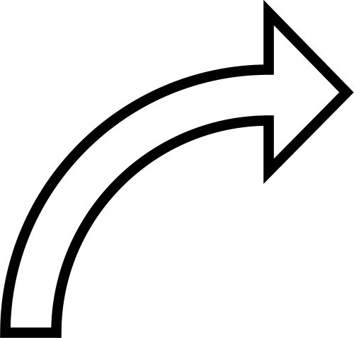 Download Free png Curved arrow clipart black and white 1.