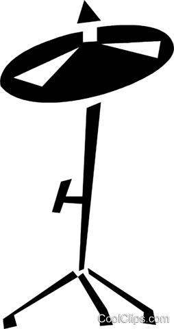 cymbal Royalty Free Vector Clip Art illustration.