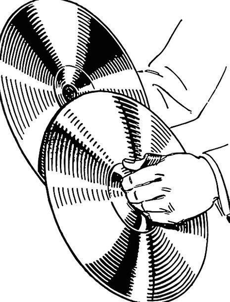 Cymbals clipart black and white 4 » Clipart Station.
