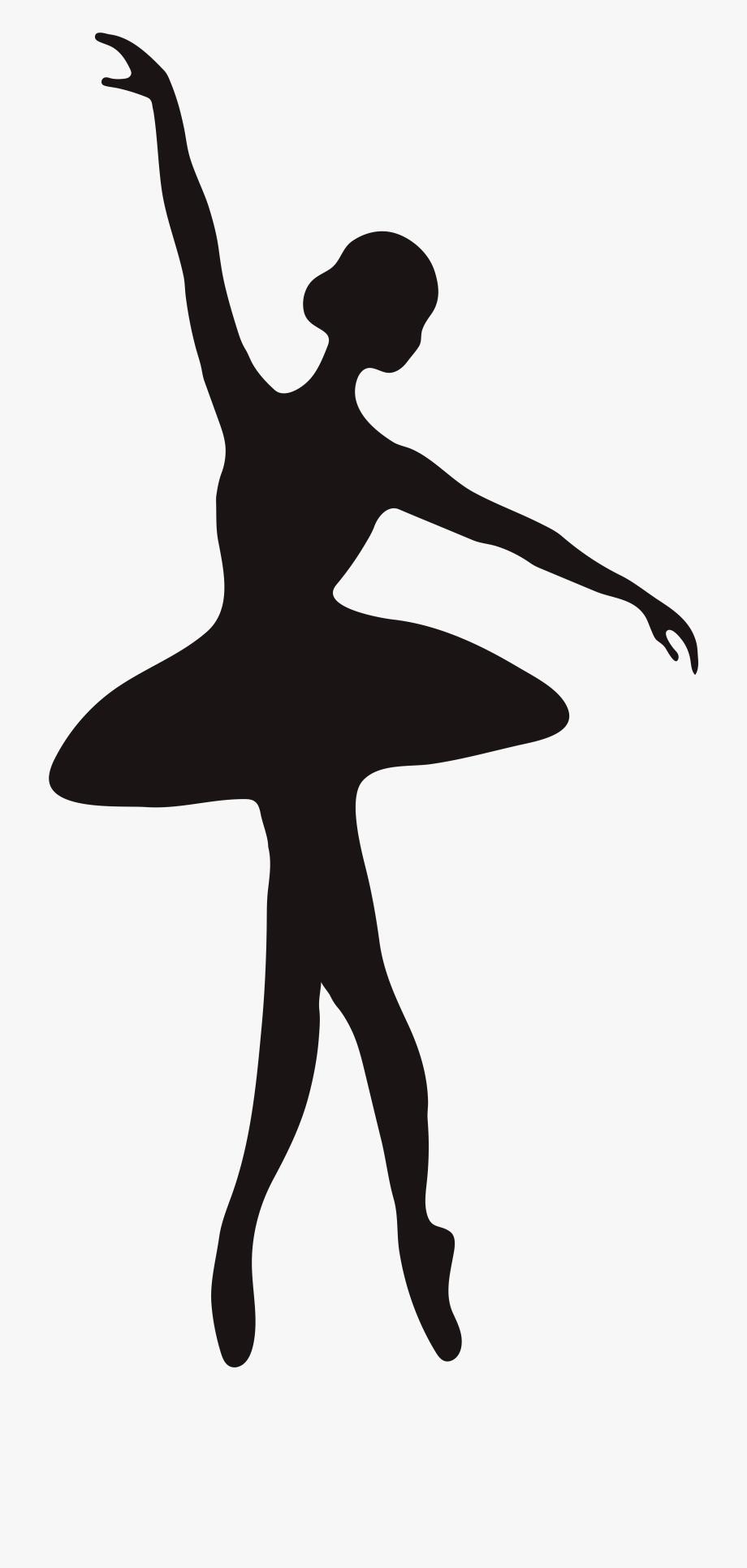 Transparent Dancer Silhouette.