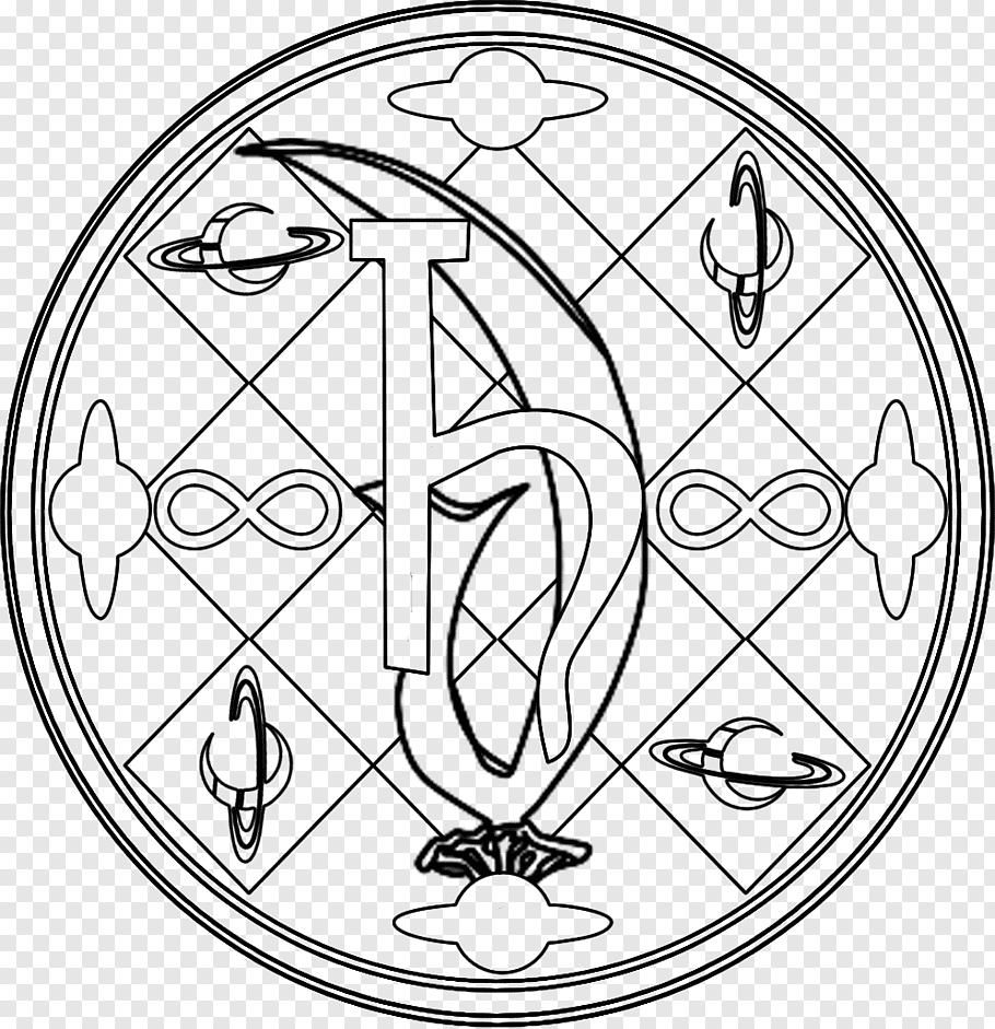 Sailor Saturn Circle Drawing, magic circle free png.