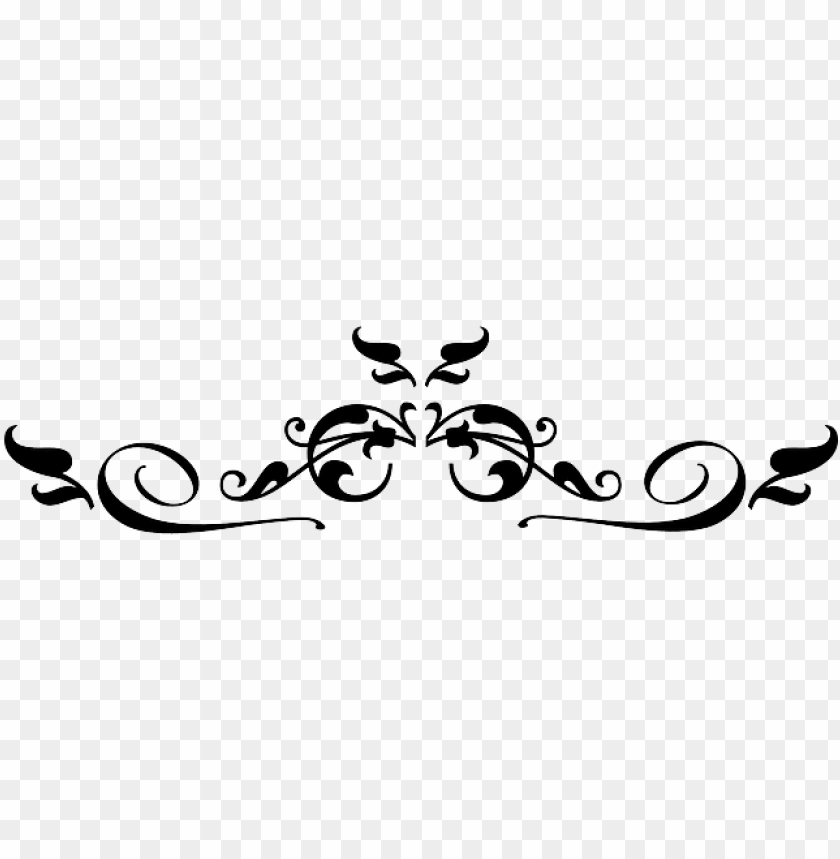 decorative line clip art black and white.