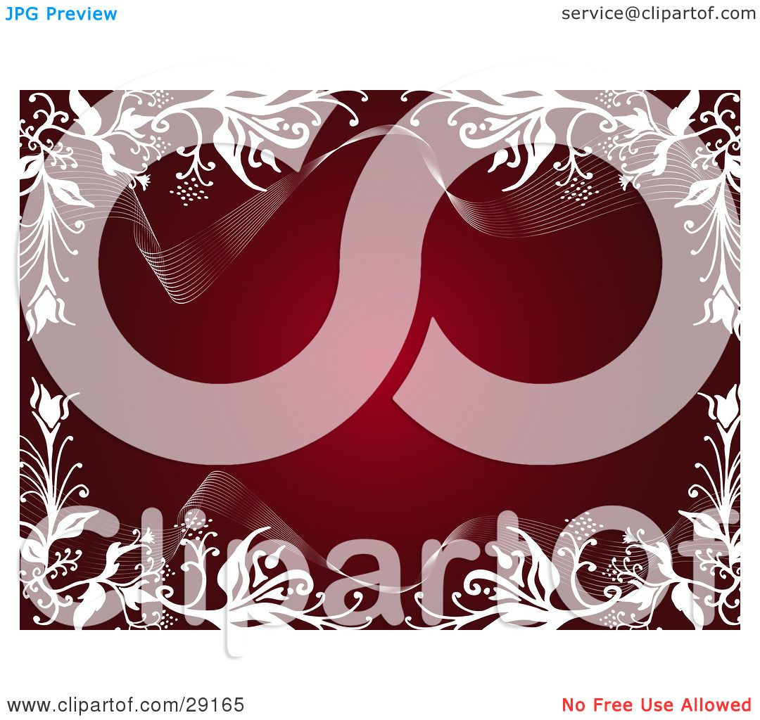 Clipart Illustration of a Deep Red Background Bordered By White.