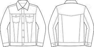 Image result for jean jacket outline.