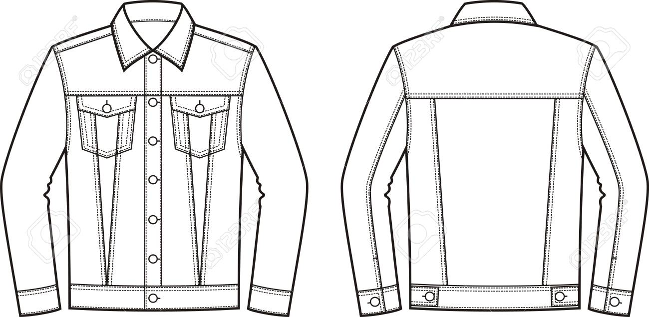 Denim Jacket Clipart.