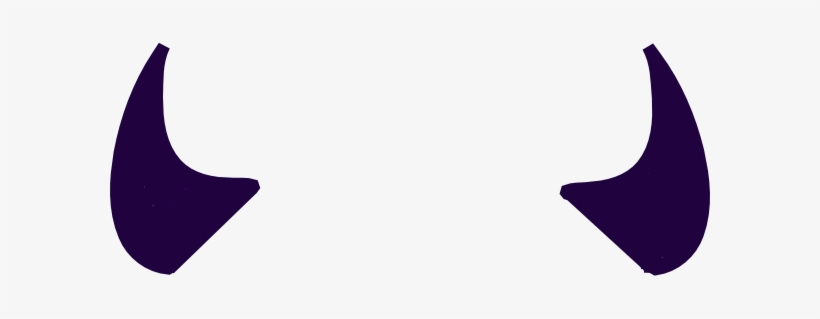 Purple Devil Horns Clip Art.