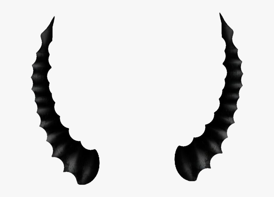 Black Devil Horns Png.