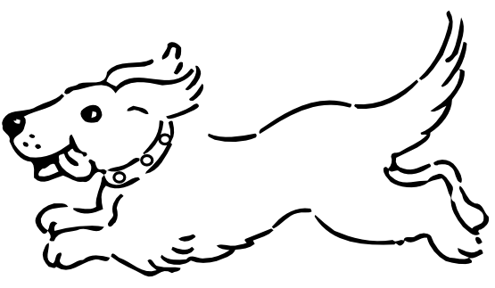 Black And White Dog Clipart.