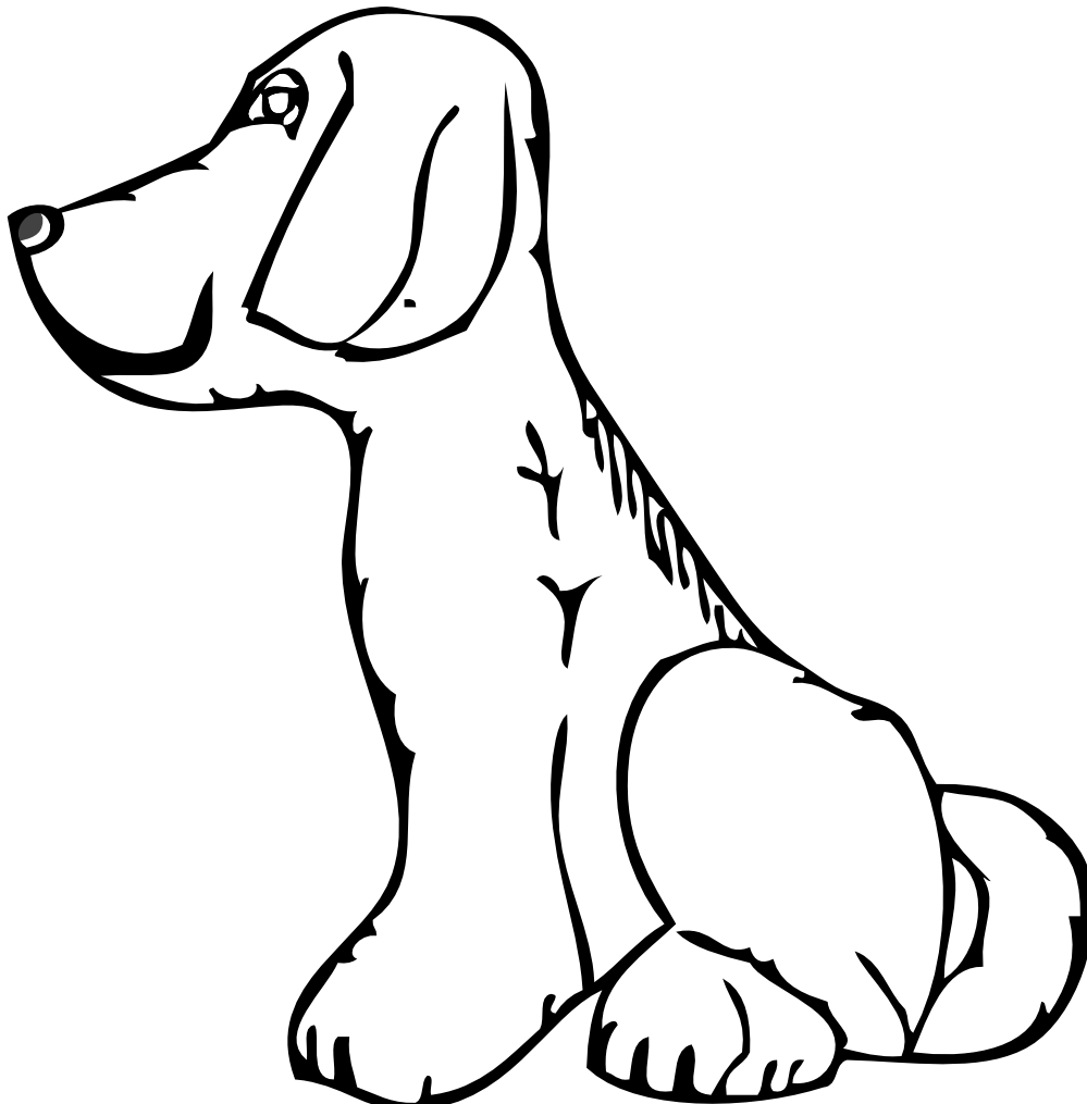 White Dog Clipart.