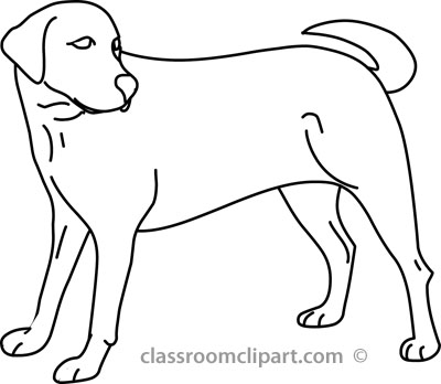Dog Black And White Clipart Dog Clip Art Black And White Dog 02a.