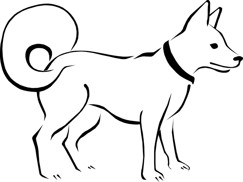 Library of png royalty free library dog black and white free.