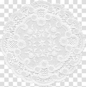White Paper Doilies transparent background PNG cliparts free.