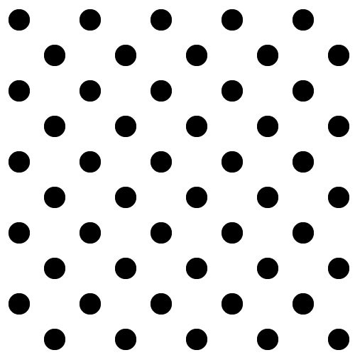Black and white dot clipart.