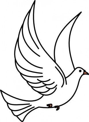 Flying Dove clip art.