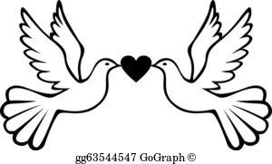 White Dove Clip Art.