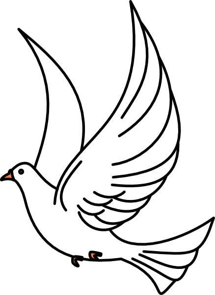 White Dove Clipart.