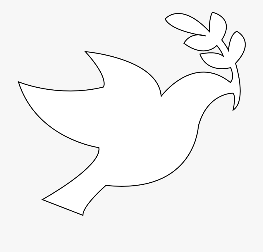 White Dove Clipart Peace Symbol.