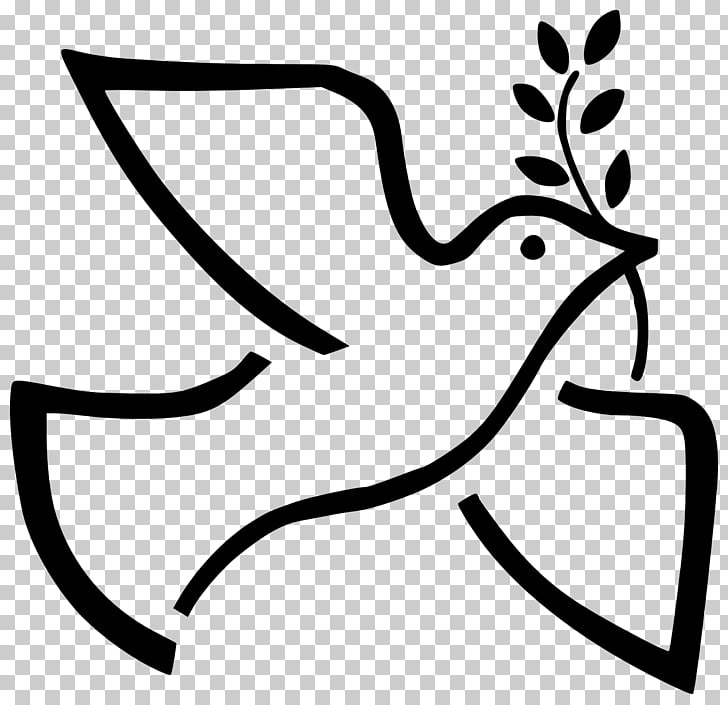 Peace symbols , white dove PNG clipart.