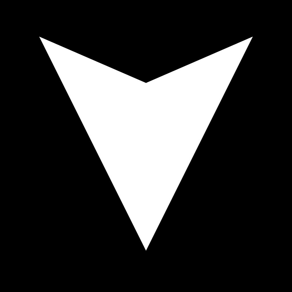 White Arrow Down.